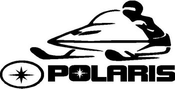 In Loving Memory Car Decals >> Polaris Logo with snowmobile, Vinyl cut decal
