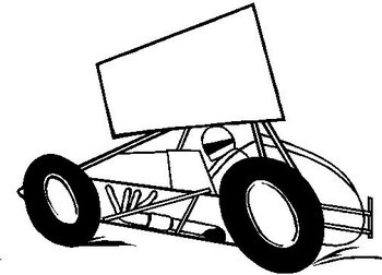 Sprint Car, Vinyl cut decal