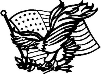 American Flag and Eagle, Vinyl cut decal