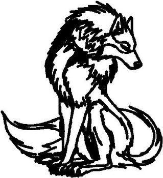 Wolf, Vinyl decal sticker