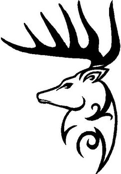 Deer, Buck, Tribal, Vinyl decal sticker