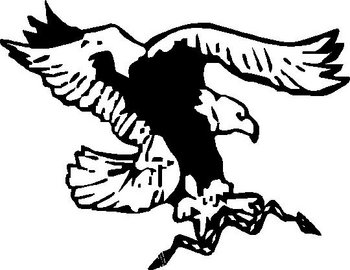 Eagle holding a snake, Vinyl decal sticker