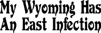 My Wyoming Has A East Infection. Vinyl cut decal