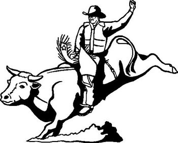 Bull Rider, Vinyl cut decal