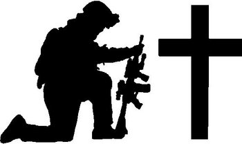 Art Hill Mazda >> Soldier praying at cross, Vinyl cut decal