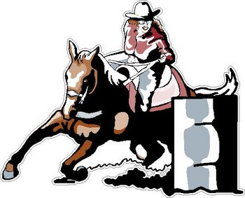 Barrel Racing, full color decal