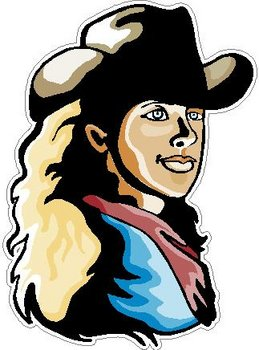 Cowgirl, Full color Decal