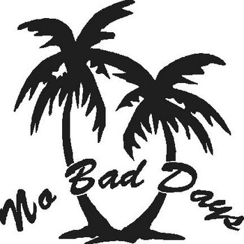 No bad days, two palm trees, Vinyl cut decal