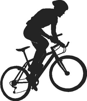 Person rinding a bicyle, Vinyl cut decal
