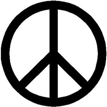 Peace sign, Vinyl decal sticker