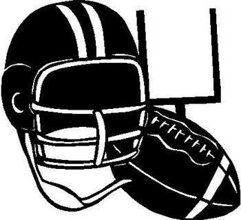 Football and helmet, Vinyl decal sticker