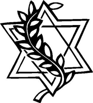 Star of david, Vinyl decal sticker