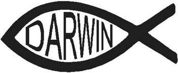 Darwin fish, Vinyl decal sticker, Vinyl decal sticker