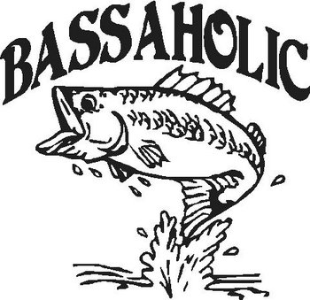 Bassaholic, Bass Fish, Vinyl decal sticker, Vinyl decal sticker