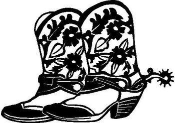 Cowboy Boots, Vinyl cut decal
