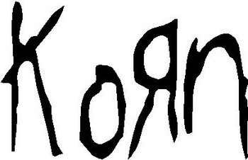 Korn Logo, Vinyl cut decal