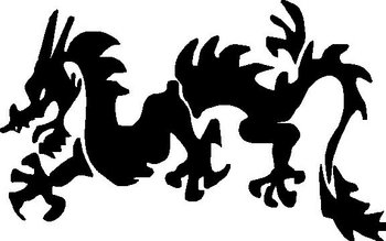 Dragon, Vinyl decal sticker