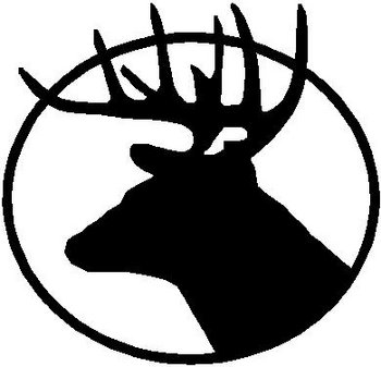 Deer Head, vinyl cut decal sticker