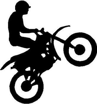 Dirt Bike, Vinyl cut decal