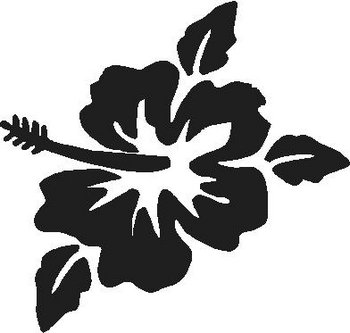 Hibiscus Flower, Vinyl cut Decal sticker