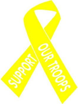 Yellow Ribbon, Support our troops, Vinyl cut decal