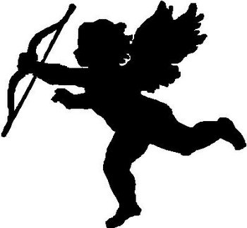 Cupid, Angel with bow and arrow, Vinyl cut decal
