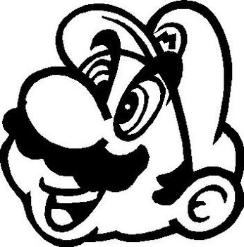 Mario, Vinyl cut decal