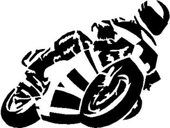Motorcycle, Vinyl cut decal