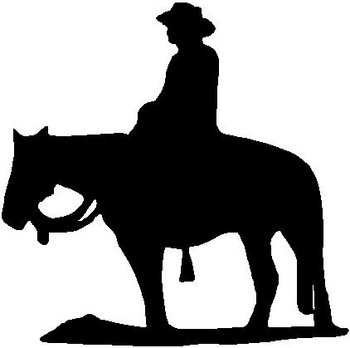 Cowboy and Horse, Vinyl cut decal