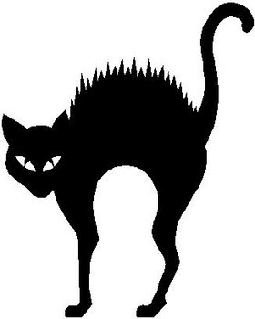 black cat templates for halloween - scary cat vinyl cut decal