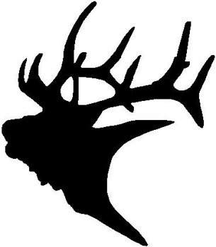 Elk Head Vinyl Cut Decal