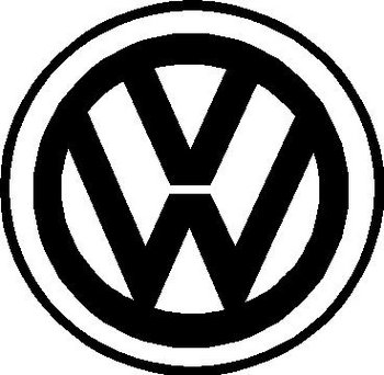 Volkswagen Logo, Vinyl cut decal