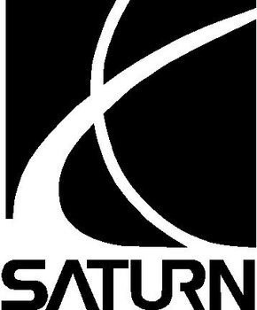 Saturn Logo, Vinyl cut decal