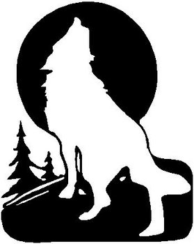 A Cowboy sitting under the moon with a horse, Vinyl cut decal