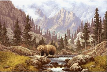 Bear Mural for your Rv by the Square Foot NOT Laminated